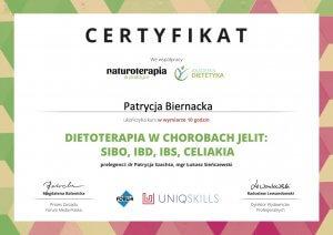 Uklad pokarmowy - certyfikat